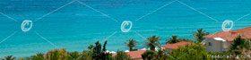 Greece travel background with blue Mediterranean Sea (Halkidiki)