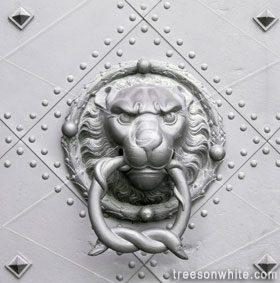Medieval door knocker.