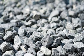 Crushed rock / gravel granite close-up.