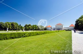 Nymphenburg Palace in Munich with park.
