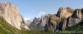Yosemite Valley Panorama High Resolution